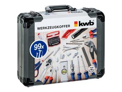 Aluminium gereedschapskoffer KWB 99 delig
